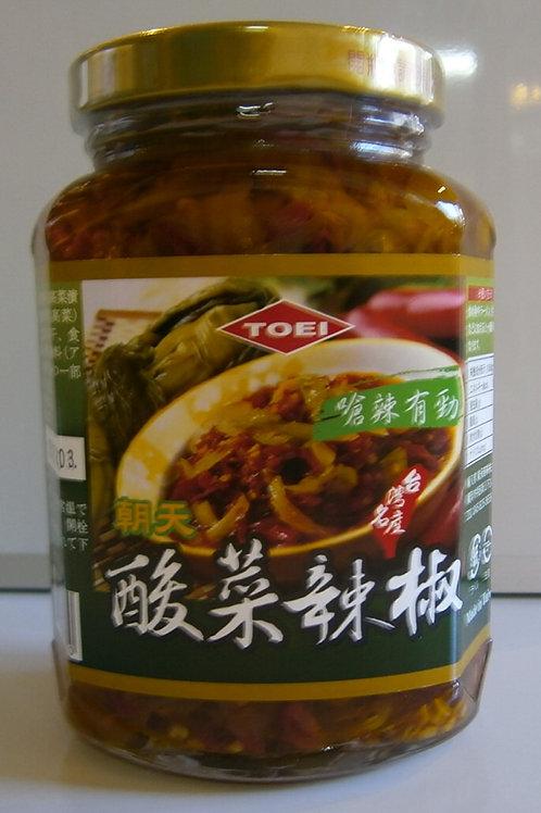 酸菜辣椒(唐辛子入り高菜漬け)365g