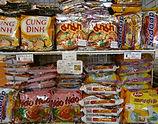 タイ、ベトナム、インドネシアのインスタント麺コーナー.JPG