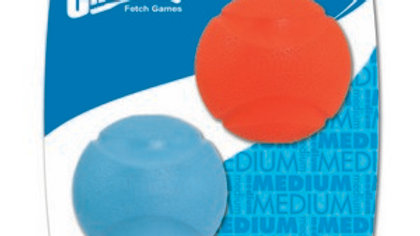 Chuckit Fetch Ball 2 Pack Medium 6.5cm