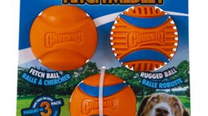 Chuckit Fetch Medley Gen 3 Medium - 3 Pack
