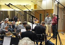 Studio recording session.