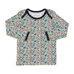Ditsy Floral L/S Lapover Tee