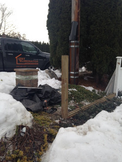 Fence repair - before
