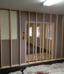 New wall construction