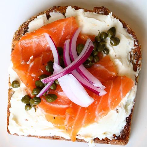 Salmon Gravlax Toast