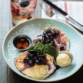 Sangria & Blueberry Pancakes