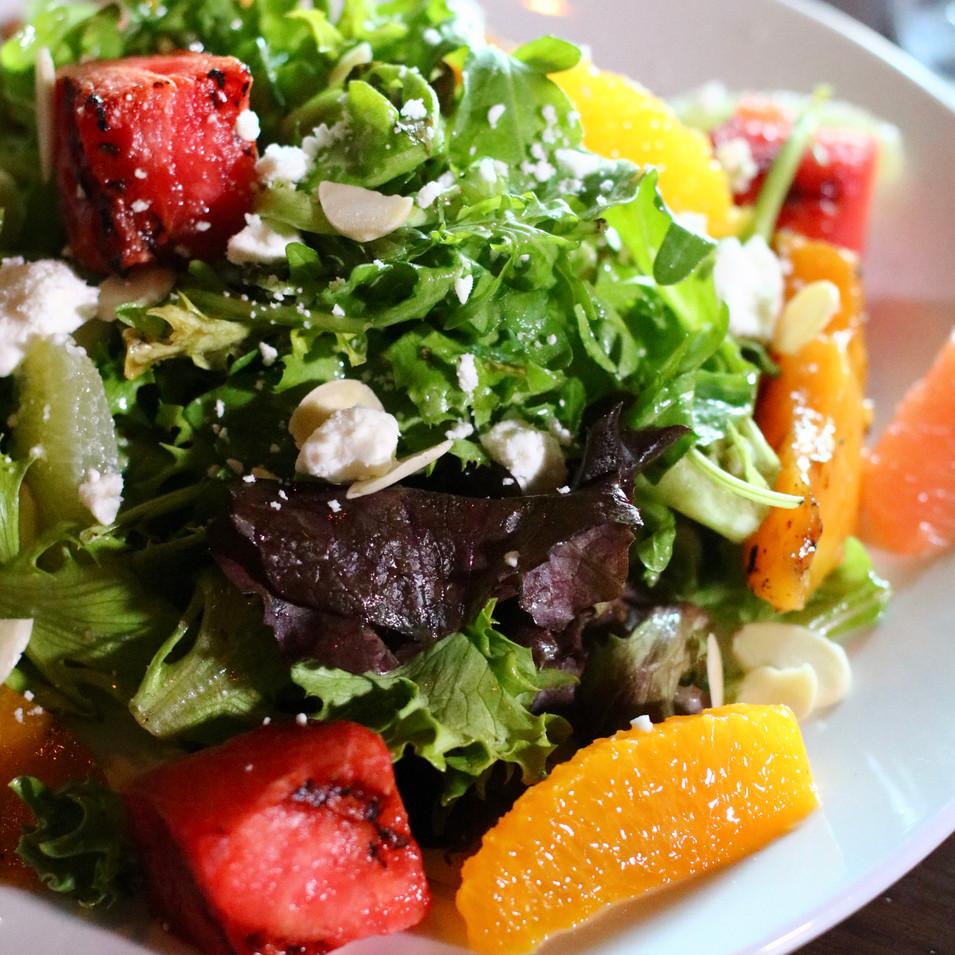 Grilled Watermelon, Peach & Citrus Summer Salad