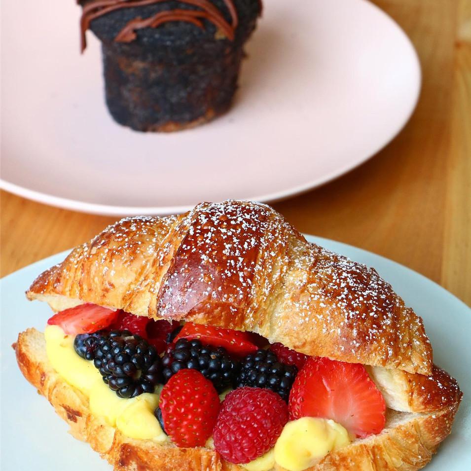 Berries & Custard Croissant