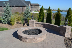 stone fire pit builder