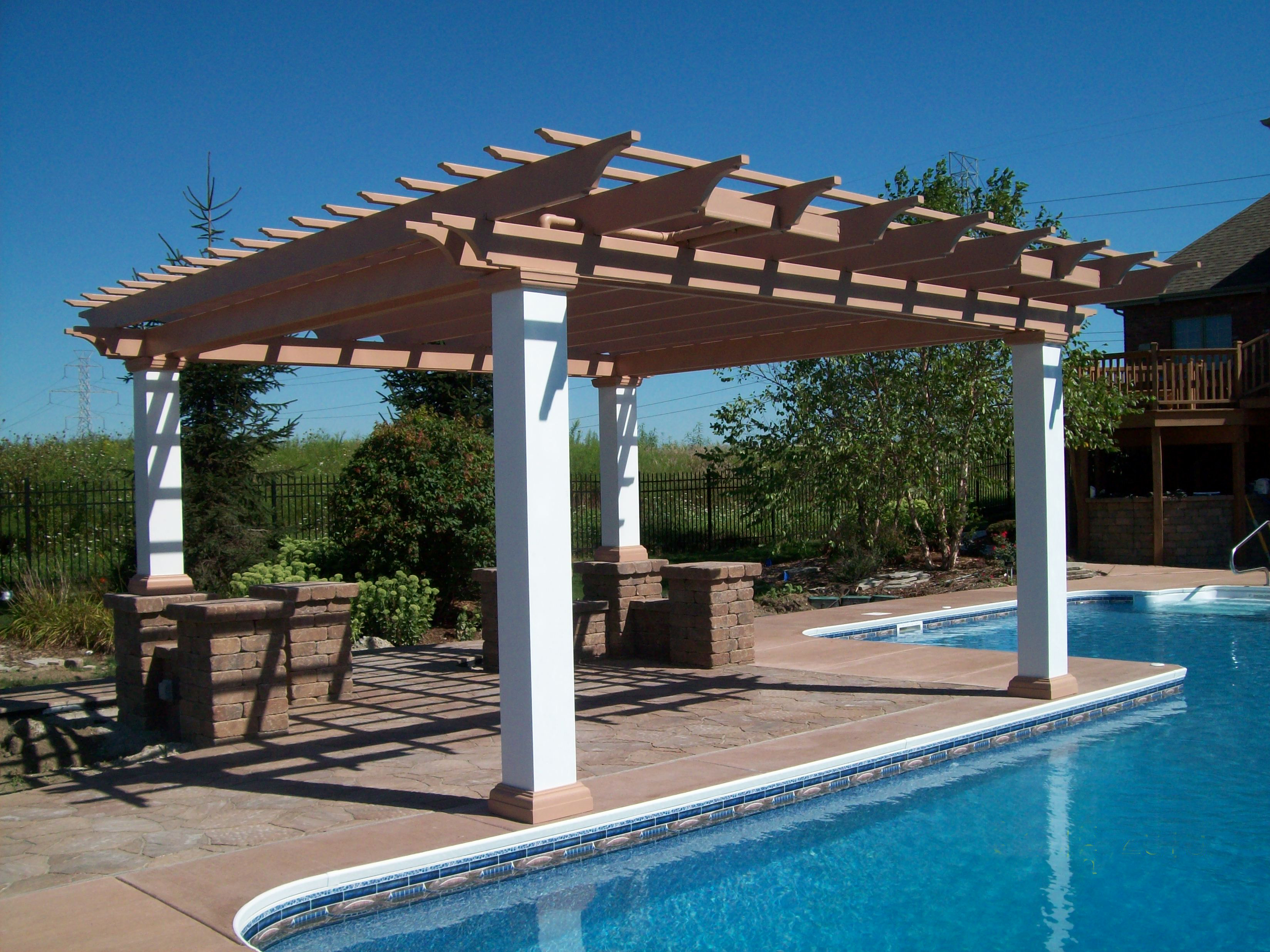 composite pergola construction
