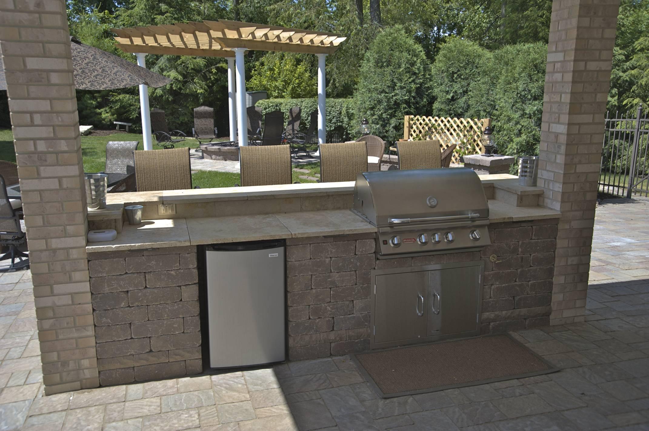 custom brick grill