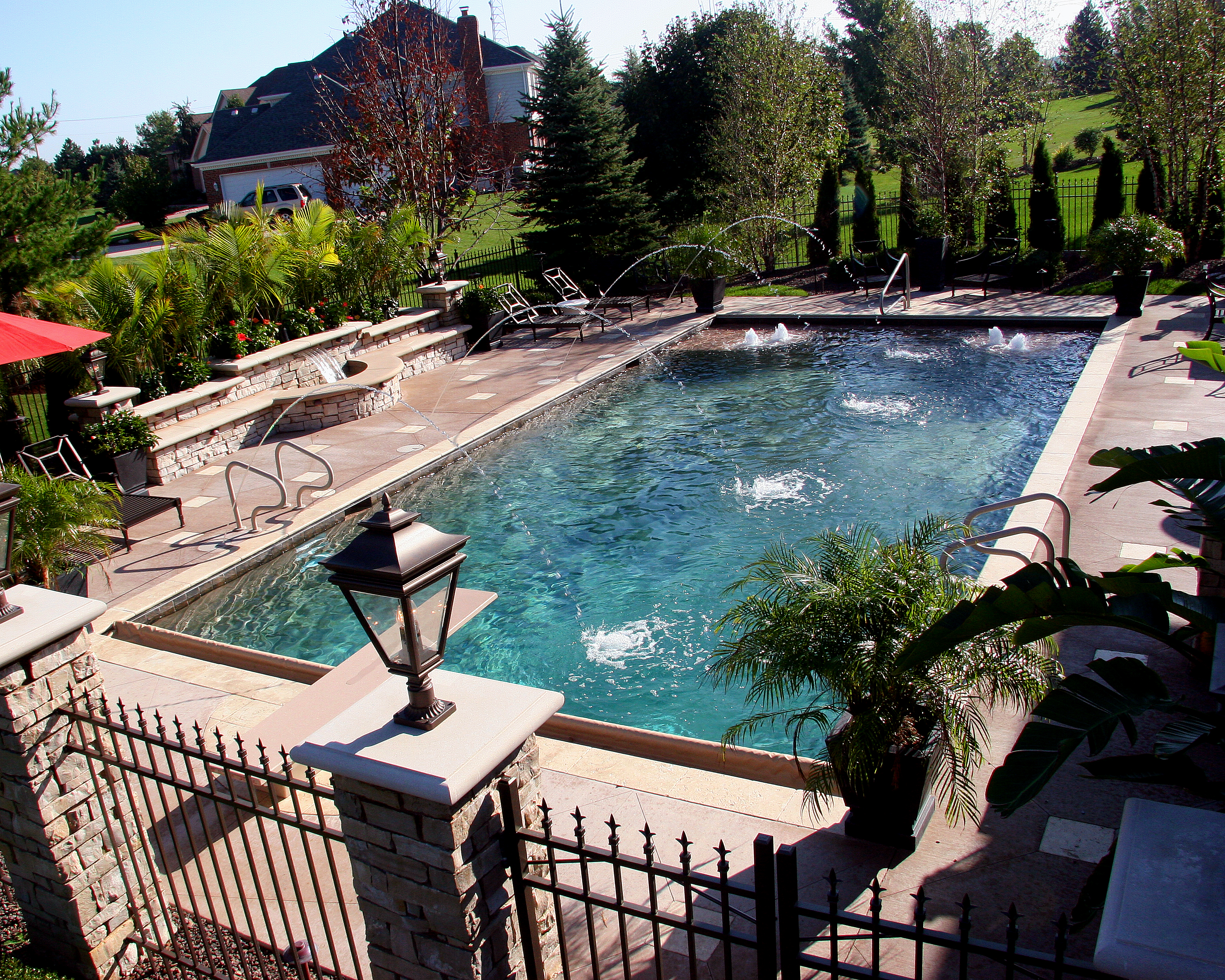 gunite pool and fountain
