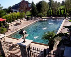 gunite pool and fountain