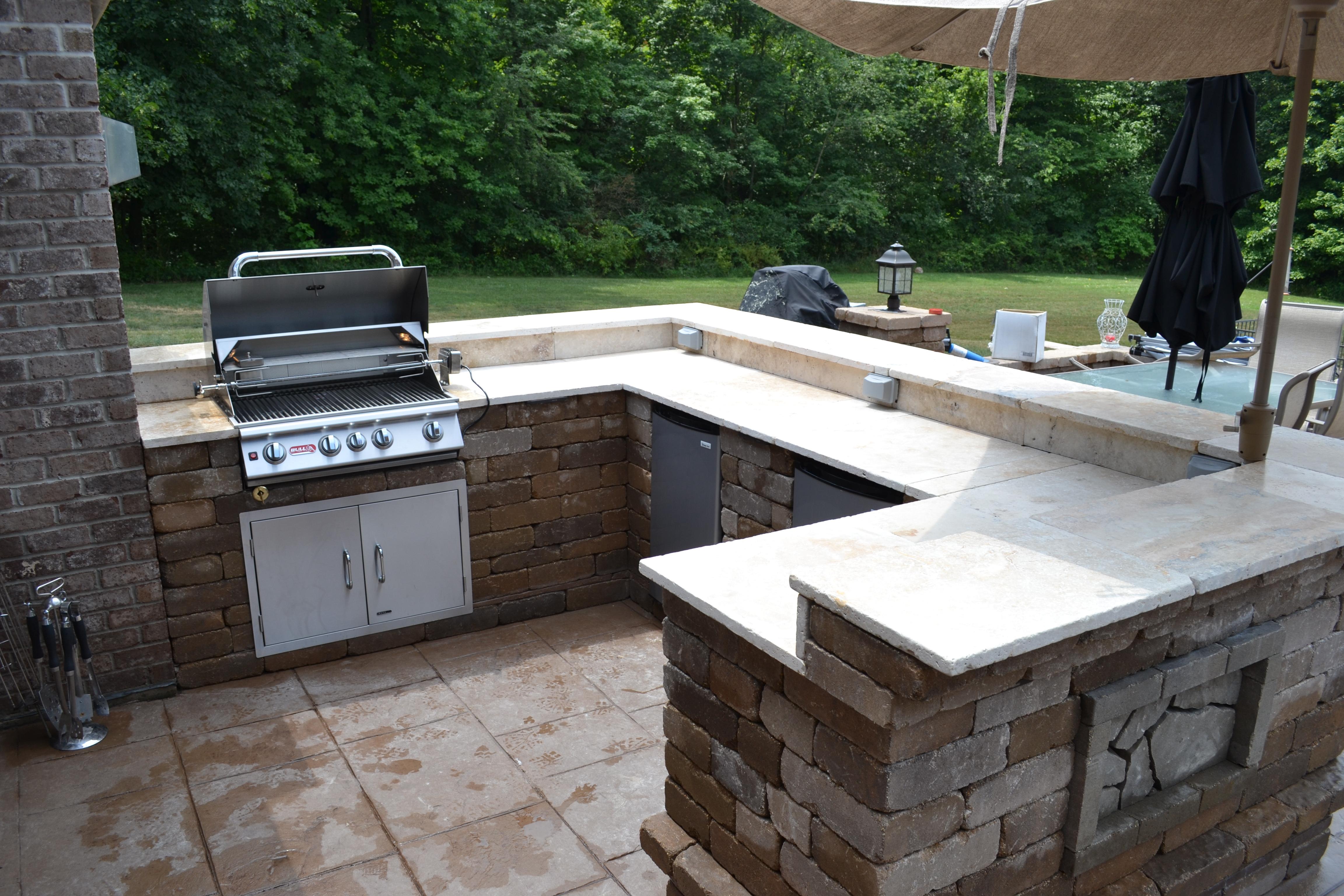 outdoor cook center builder