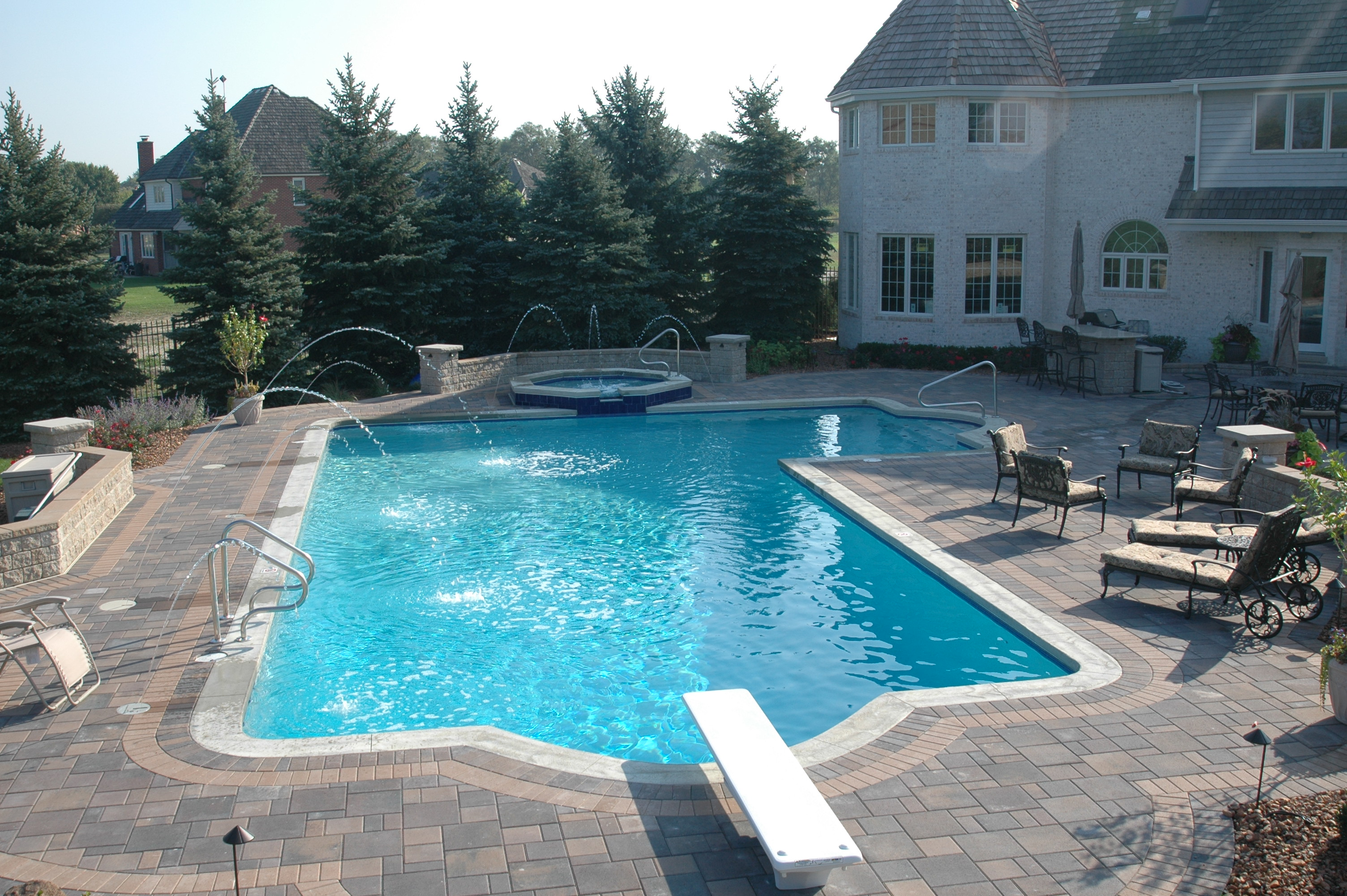 gunite pool and gunite spa