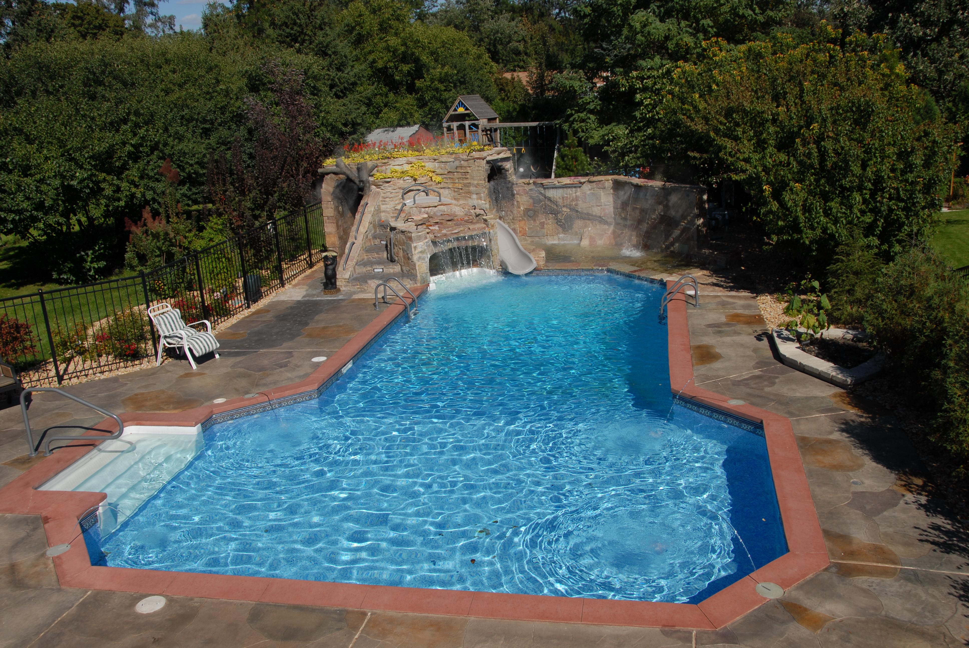 vinyl inground pool grotto