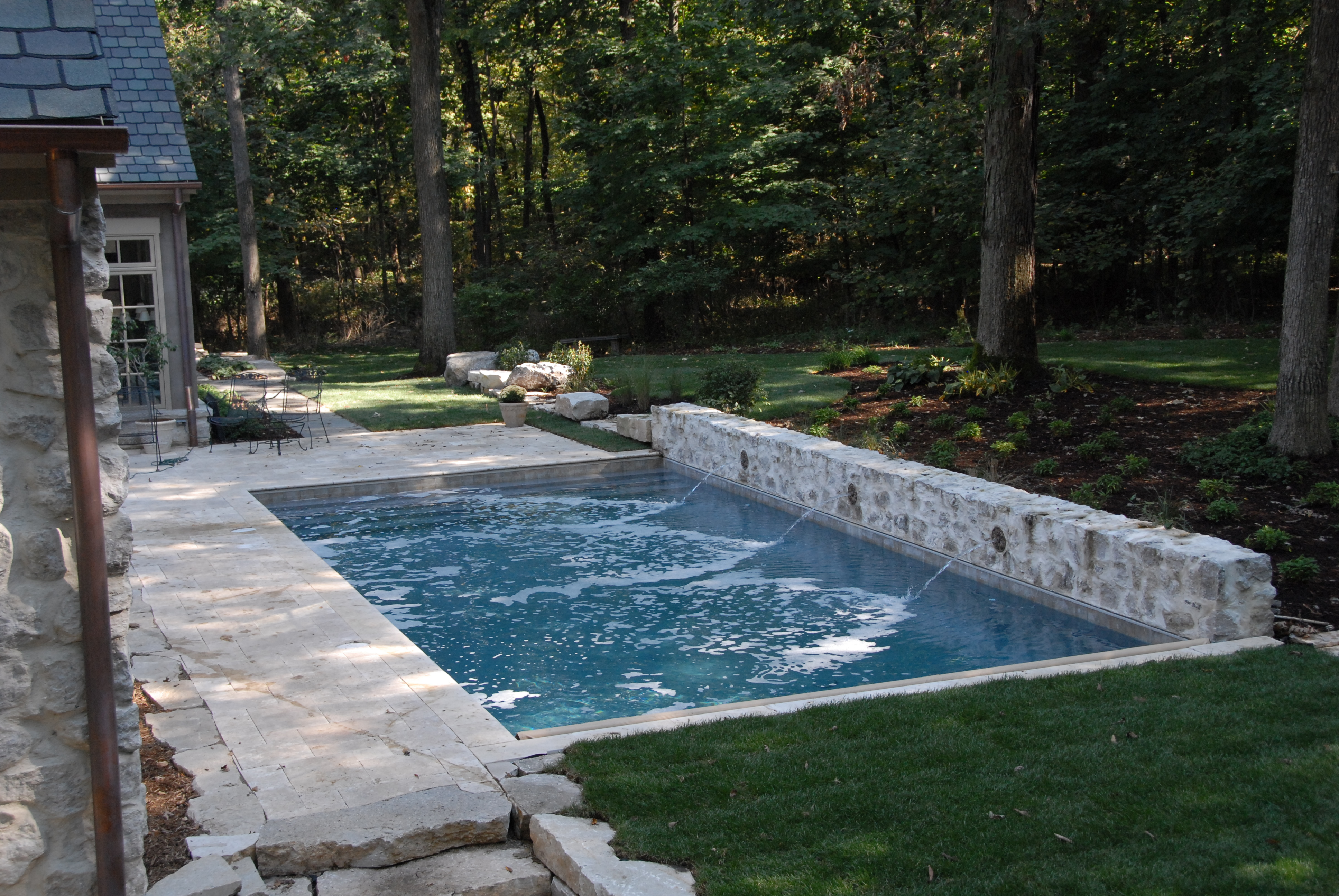 gunite inground pool natural setting