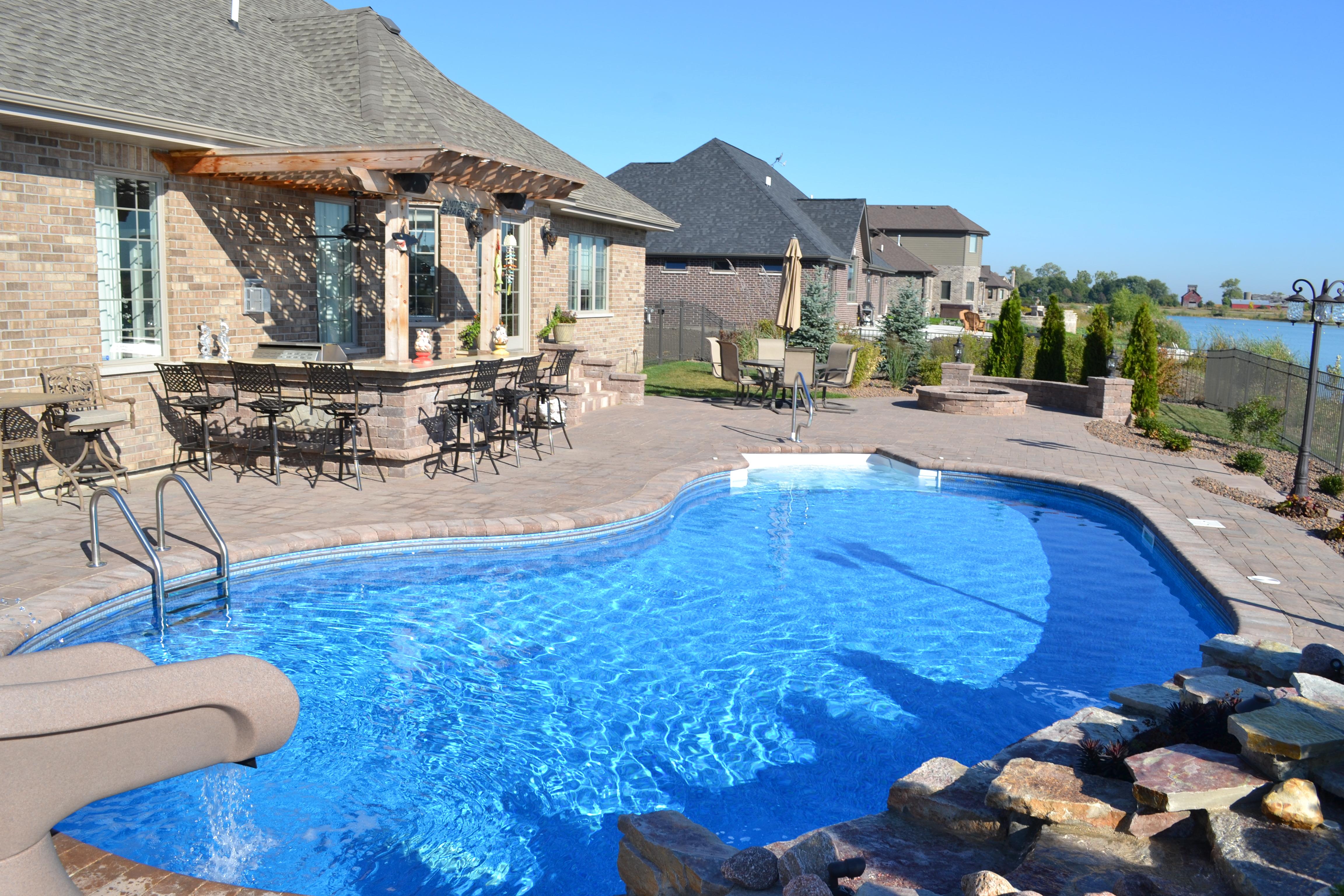 vinyl inground pool brick coping
