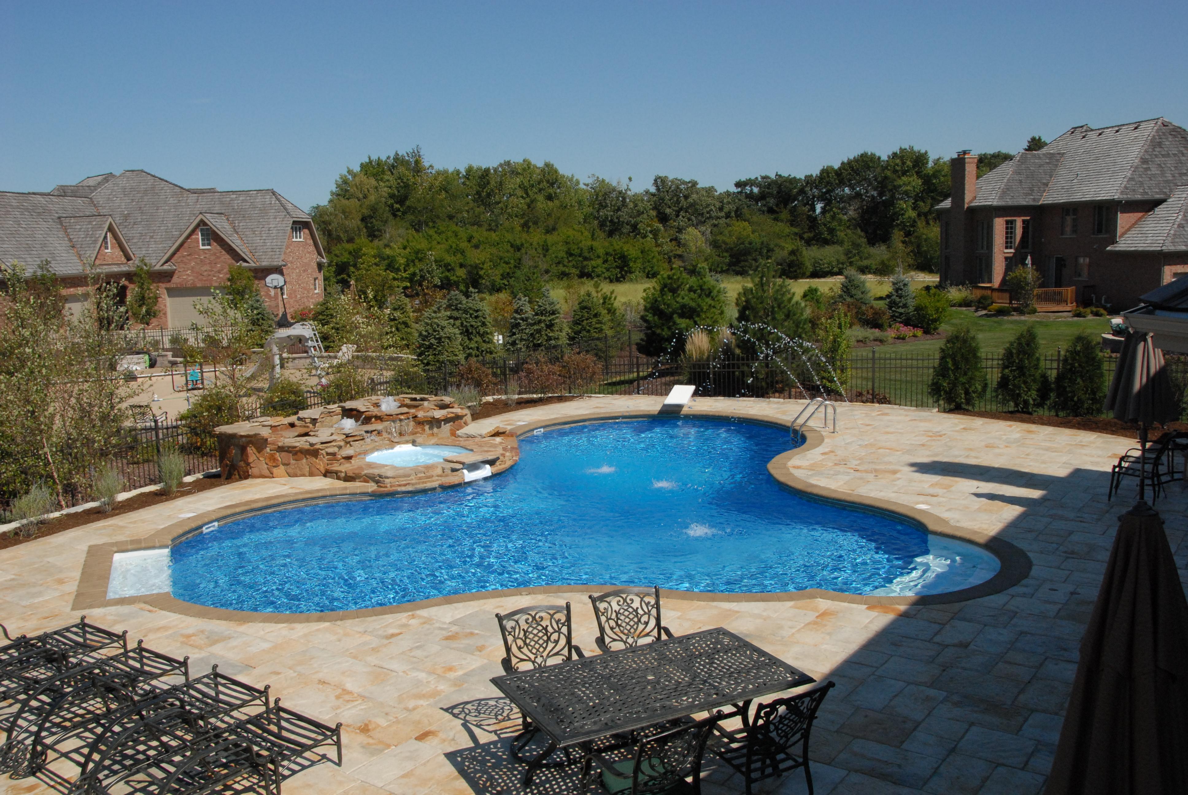 vinyl inground pool and spa