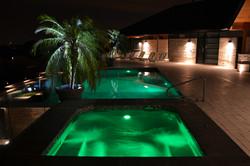 gunite spa infinity pool builder