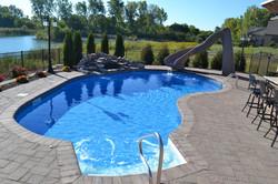 vinyl pool natural waterfall
