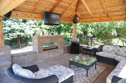 natural gas outdoor fireplace