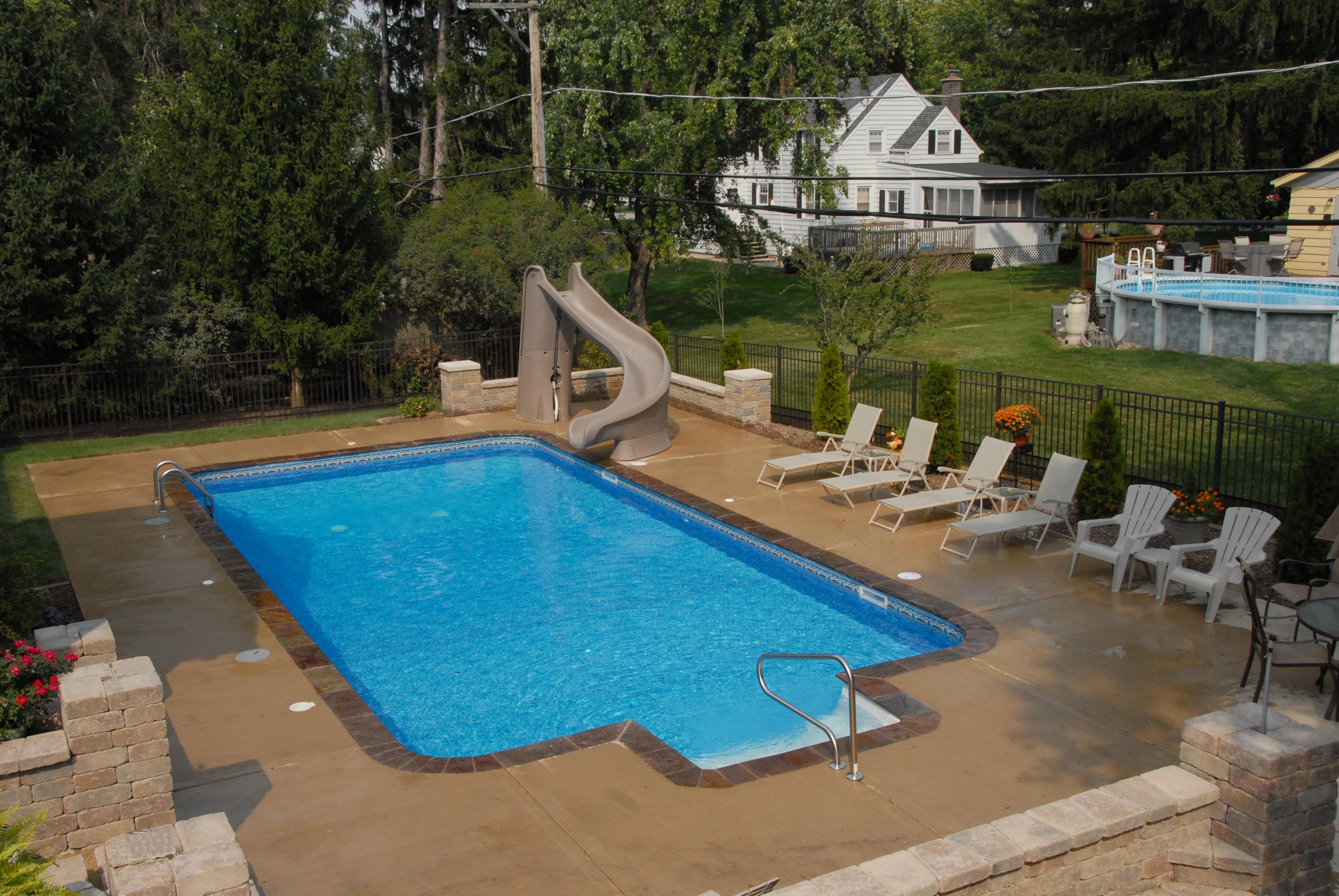 vinyl in ground pool construction