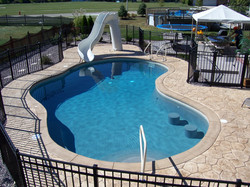 gunite pool swim up bar