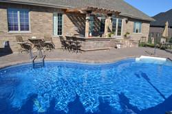 vinyl pool builder outdoor kitchen