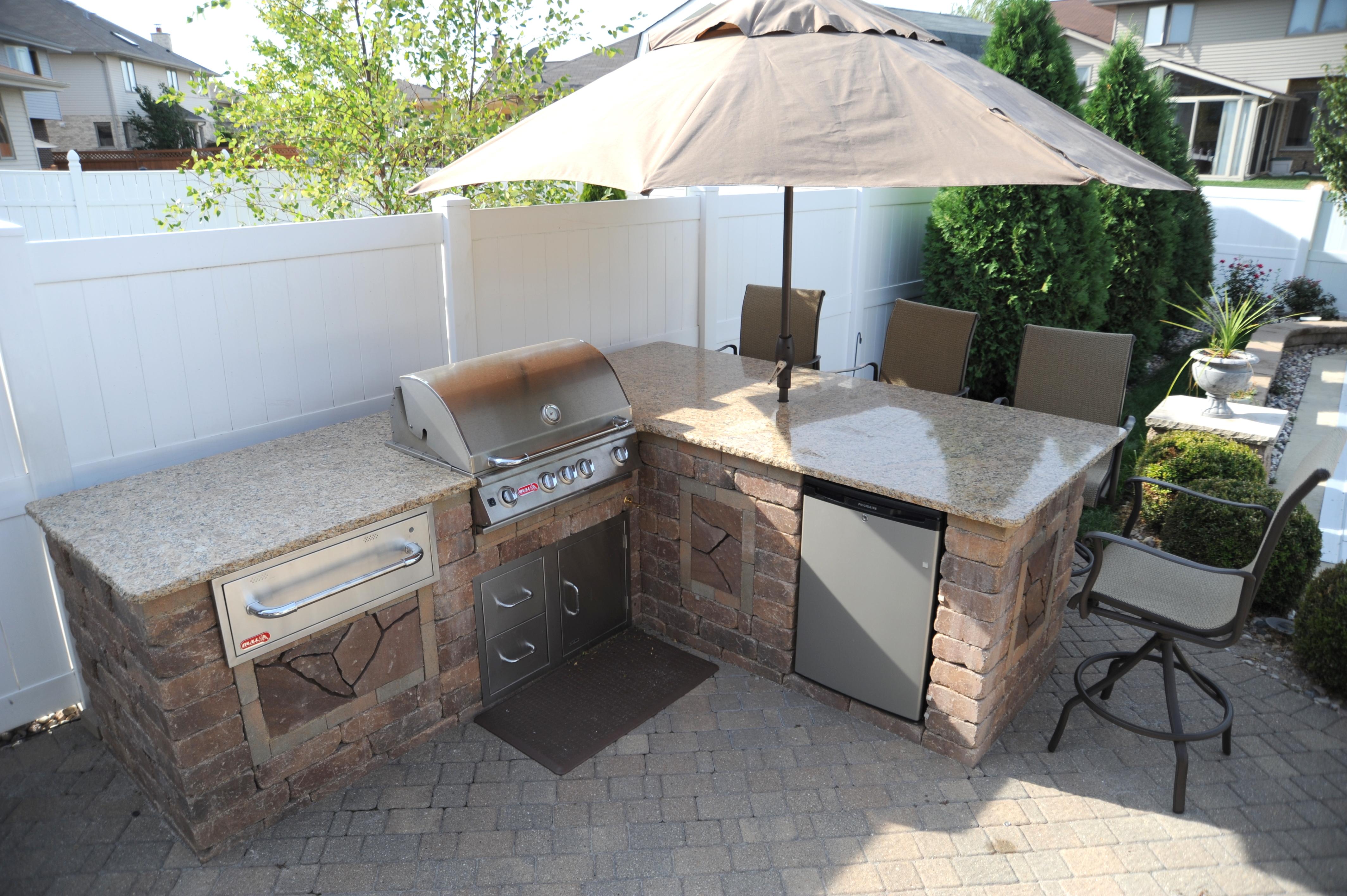 outdoor brick cook center
