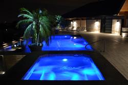 gunite infinity edge pool and spa
