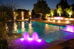 shotcrete pool with led light