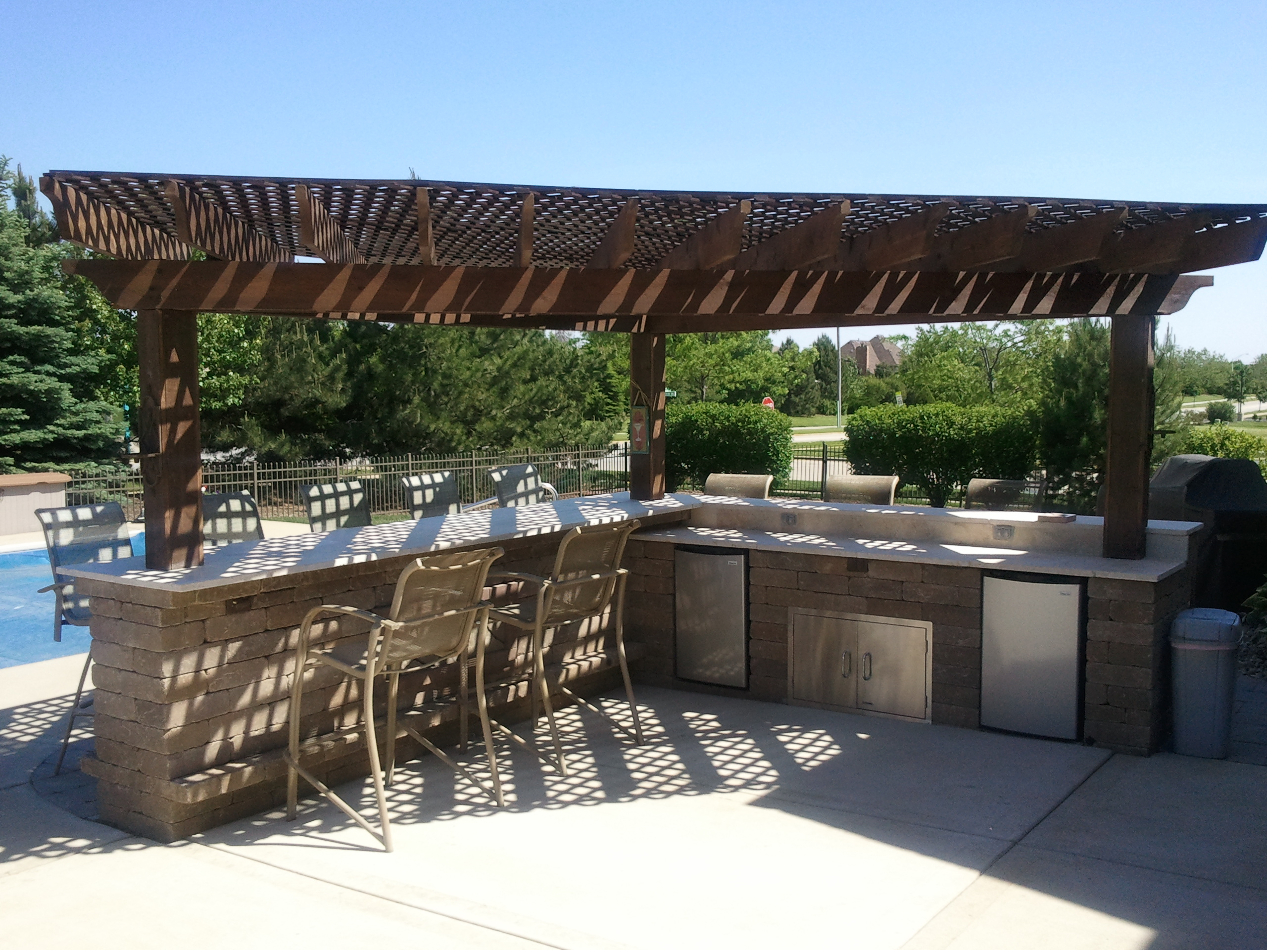 pergola built over bar