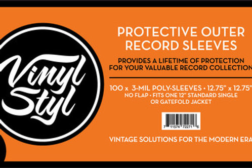 "Vinyl Styl™ 12.75"" X 12.75"" 3 Mil Protective Outer Record Sleeve 100CT"