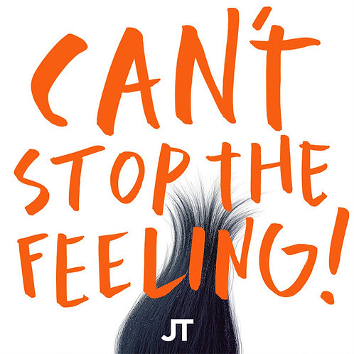"JT* ‎ Can't Stop The Feeling! 12"" Single (Orange Vinyl)"