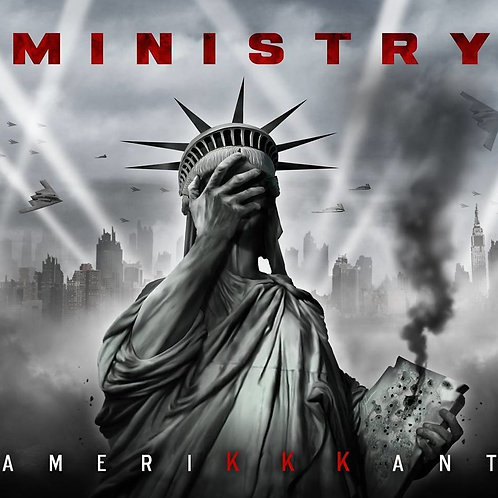 Ministry ‎Amerikkkant Black and Grey Swirl (Colored Vinyl)