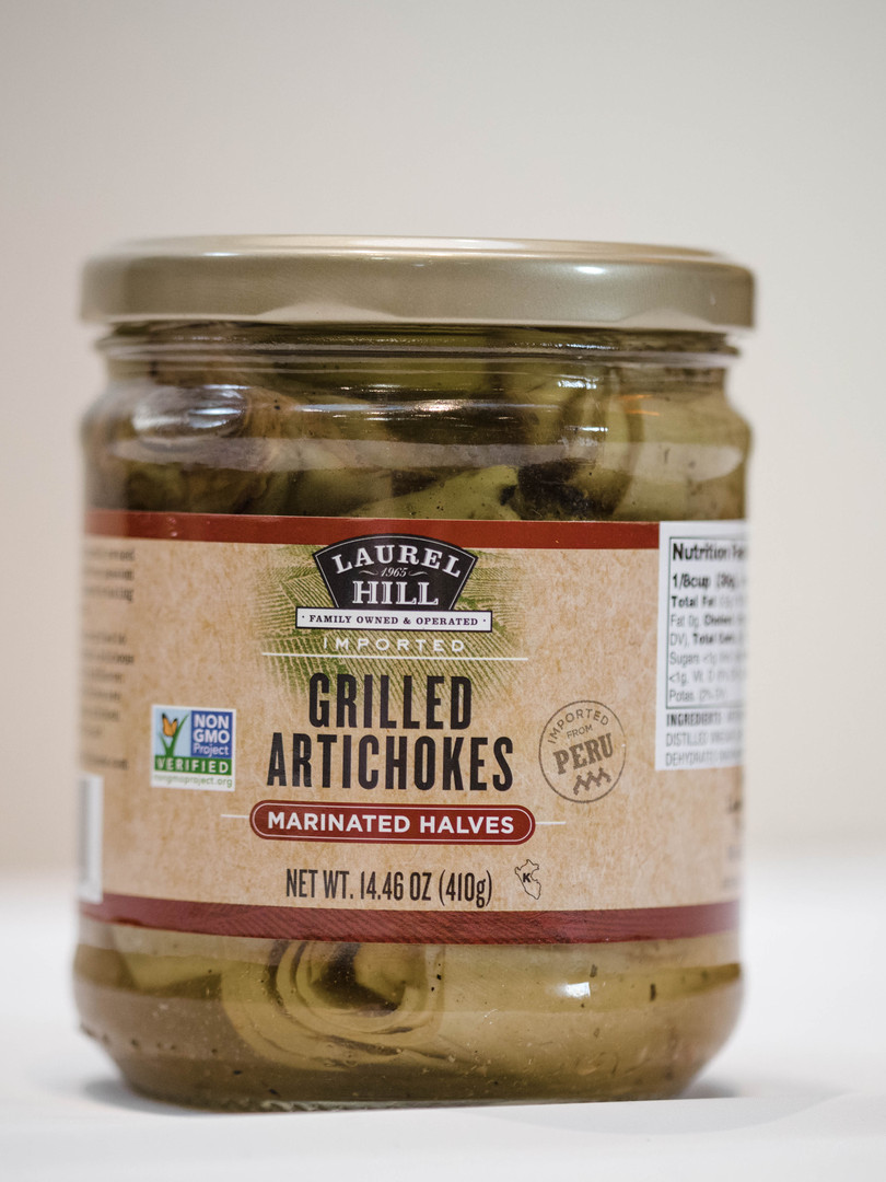 Grilled Artichokes - Marinated Halves