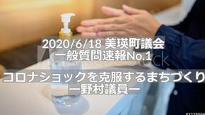(No.87) 議会レビュー|コロナショックを克服するまちづくり(一般質問・野村議員)
