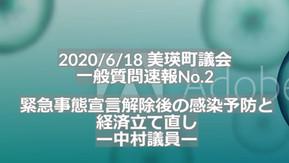 (No.88) 議会レビュー|緊急事態宣言後の感染予防と経済立て直し(一般質問・中村議員)