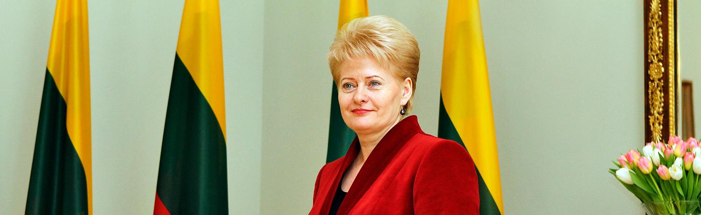 Lithuanian pres Dalia Grybauskaite by Augustas Didzgalvis