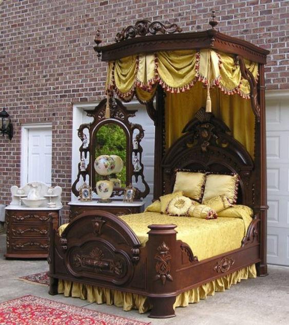 Half Tester Victorian bed.JPG