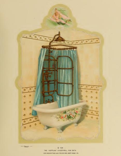 Folding Needle Shower bath L Wolff 1885.