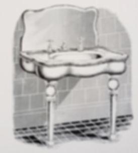 Console serpentine sink by FWW Manufactu