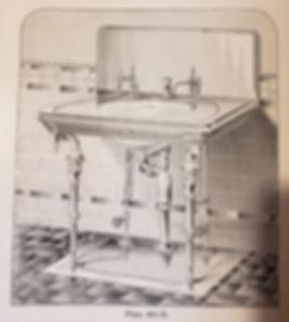 F W Webb marble sink with wall brackets_