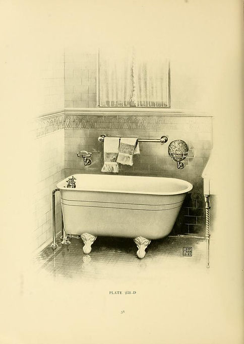 Mermaid tub and bathroom 1900 Henry Hube