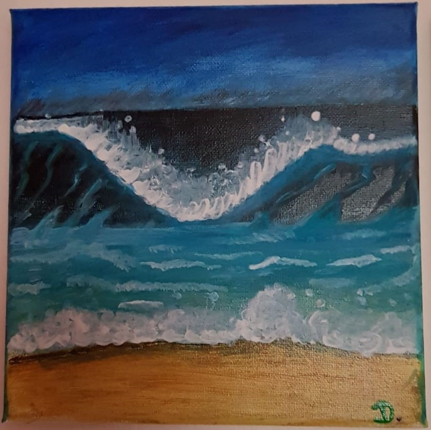 Waves Crashing on Canvass