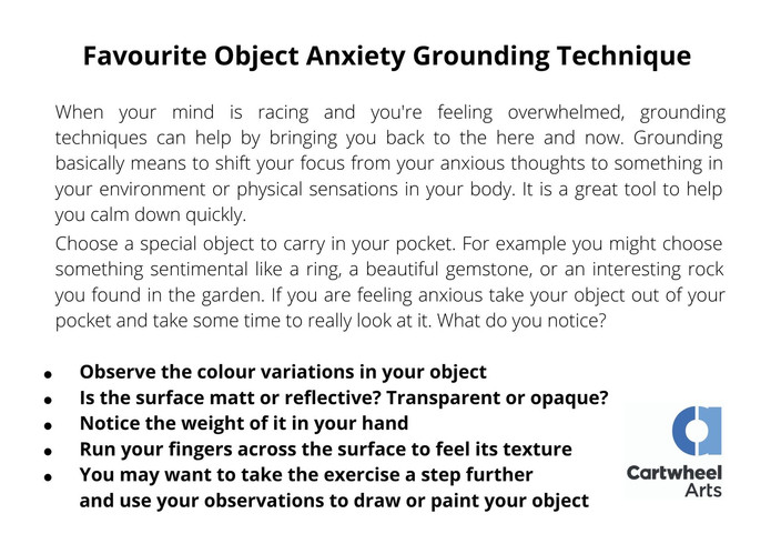 Special Object Anxiety Grounding Techniq