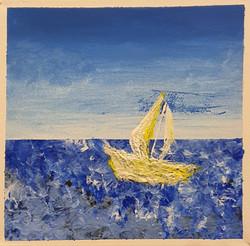Boat on Ocean Acrylic