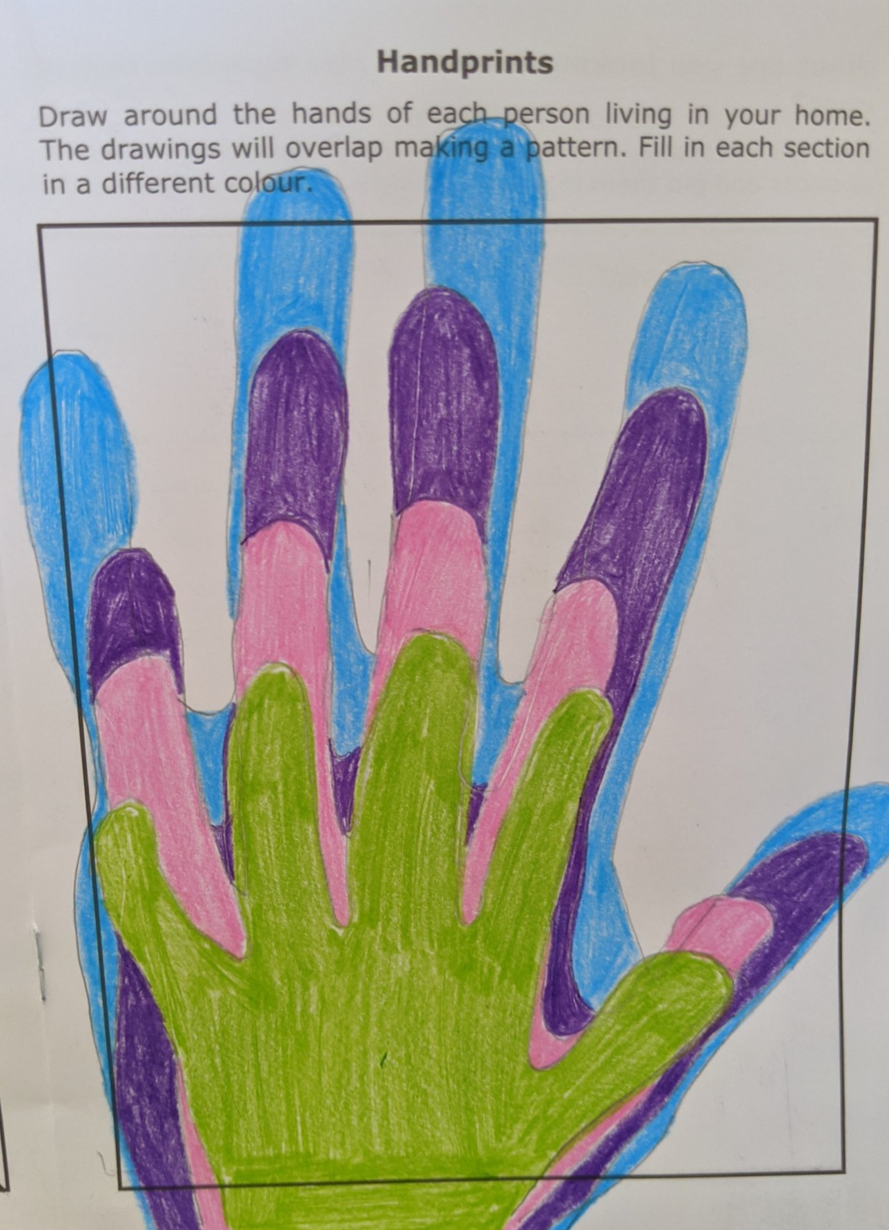 Handprints by St Mary's CE Primary School student