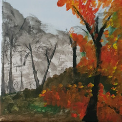 Autumnal Trees Acrylic